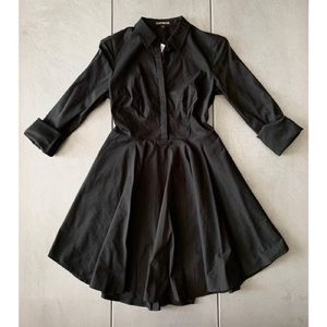 Express Black Button Up Dress
